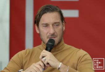 A #piulibri19 Francesco Totti, Paolo Condò e Walter Veltroni.